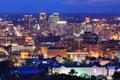 Downtown Birmingham, Alabama Skyine Royalty Free Stock Photo