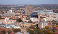 Downtown bloemfontein an urban landscape showing the capital city of the free state south africa Stock Images