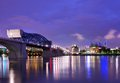 Downtown chattanooga skyline of tennessee usa Stock Images