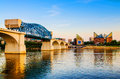 Downtown Chattanooga, Tennessee at dusk Royalty Free Stock Photo