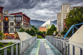 Downtown chattanooga tennessee usa cityscape under a stormy sky Stock Photos