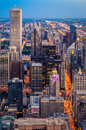 Downtown chicago dusk in illinois Stock Photos