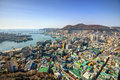 Downtown cityscape of busan south korea Stock Photos