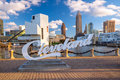 Downtown Cleveland skyline Royalty Free Stock Photo