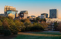 Downtown columbia panoramic of from finlay park in south carolina Stock Image