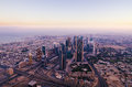 Downtown of dubai united arab emirates in the morning Royalty Free Stock Image
