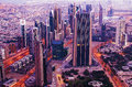 Downtown of dubai united arab emirates in the morning Royalty Free Stock Photography