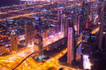 Downtown of dubai united arab emirates at night Royalty Free Stock Photos