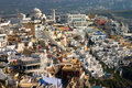 Downtown Fira (Thira), Santori Stock Image