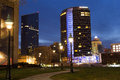 Downtown Grand Rapids at Night Royalty Free Stock Photo