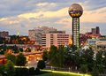 Downtown knoxville skyline of tennessee usa Royalty Free Stock Photography
