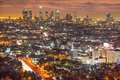 Downtown la los angeles california usa skyline at night Royalty Free Stock Photos