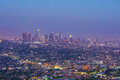 Downtown LA Los Angeles skyline in California Royalty Free Stock Photo