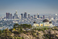 Downtown los angeles california usa at griffith park and observatory Stock Photography