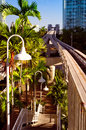 Downtown miami railroad station viewed from a bridge in florida usa Royalty Free Stock Image