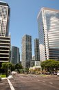 Downtown miami a view of with modern buildings Stock Photo
