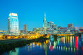 Downtown nashville cityscape in the morning early Royalty Free Stock Photography