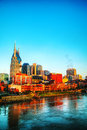 Downtown nashville cityscape in the morning early Stock Images
