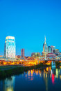 Downtown nashville cityscape in the morning early Royalty Free Stock Photo