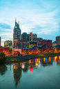Downtown nashville cityscape in the morning early Royalty Free Stock Image