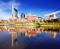 Downtown nashville skyline of tennessee usa Royalty Free Stock Photos