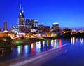 Downtown nashville skyline of tennessee usa Stock Photos