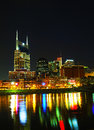 Downtown nashville tn in the evening Stock Photos
