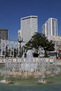 Downtown new orleans louisiana fountain in Stock Photo