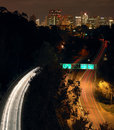 Downtown San Diego and Hw163 at night Stock Images