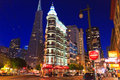 Downtown San Francisco at night Royalty Free Stock Image