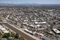 Downtown scottsdale aerial view of arizona looking towards the east Royalty Free Stock Photos