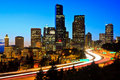 Downtown Seattle skyline at dusk Royalty Free Stock Photography