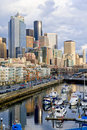 Downtown Seattle waterfront Royalty Free Stock Photos