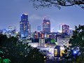 Downtown sendai japan skyline of Royalty Free Stock Photo