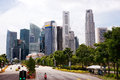 Downtown singapore business district Stock Photo