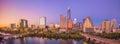 Downtown Skyline of Austin, Texas Royalty Free Stock Photo