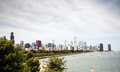 Downtown skyline chicago view of illinois usa Royalty Free Stock Images