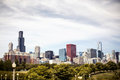 Downtown skyline chicago view of illinois usa Royalty Free Stock Photo