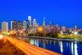 Downtown Skyline of Philadelphia Royalty Free Stock Photo