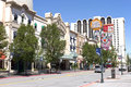 Downtown street and casino, Reno NV. Royalty Free Stock Photography