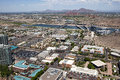 Downtown tempe aerial view of arizona and town lake Royalty Free Stock Photography