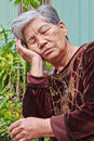 Doze old woman Royalty Free Stock Images