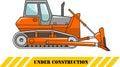 Dozer. Heavy construction machine. Vector