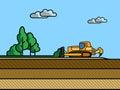 Dozer topsoil removal