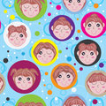 Dröm- flicka Seamless Pattern_eps Royaltyfria Foton
