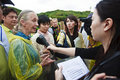 Dr. Jane Goodall in 2010 television interview Royalty Free Stock Photos