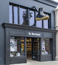 Dr martens retail store exterior and logo santa monica ca usa may is a british footwear clothing brand Royalty Free Stock Image