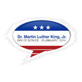 Dr martin luther king jr callout call out badge Stock Photography