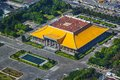 Dr sun yat sen memorial hall taipei taiwan at aerial view Royalty Free Stock Images