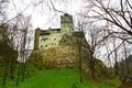 Dracula castle tourist visiting bran in transylvania romania Stock Photography
